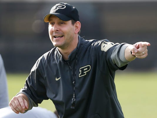 LAF Purdue football spring practice quarterbacks