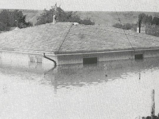 Water reached nearly to the eaves of the Gerald Wentworth