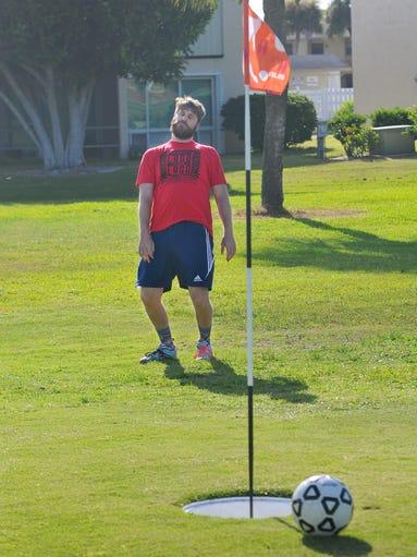 Footgolf at Mallards Landing golf course Melbourne | 380 x 510 jpeg 40kB