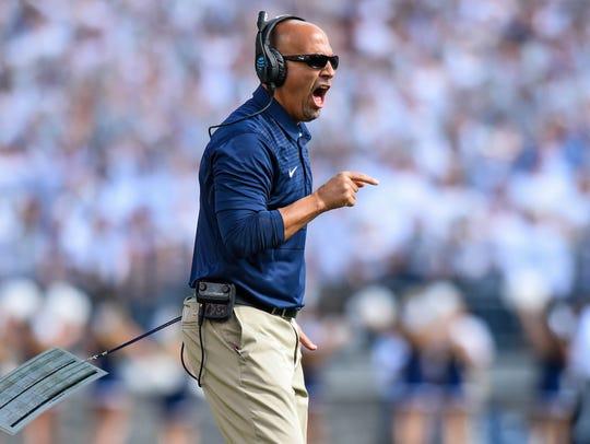 Penn State Nittany Lions head coach James Franklin.