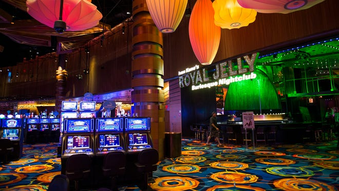 The entrance to the Royal Jelly burlesque nightclub inside the new Ocean Resort Casino Wednesday, June 27, 2018 in Atlantic City, N.J.