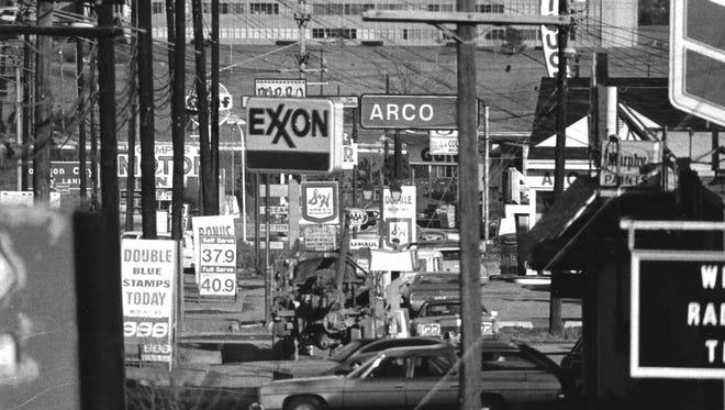 Vestal Parkway in 1973.