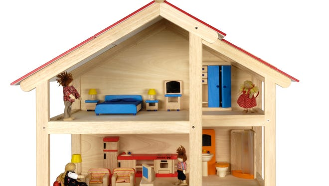 It's not as easy to buy a wooden doll house as you would imagine.