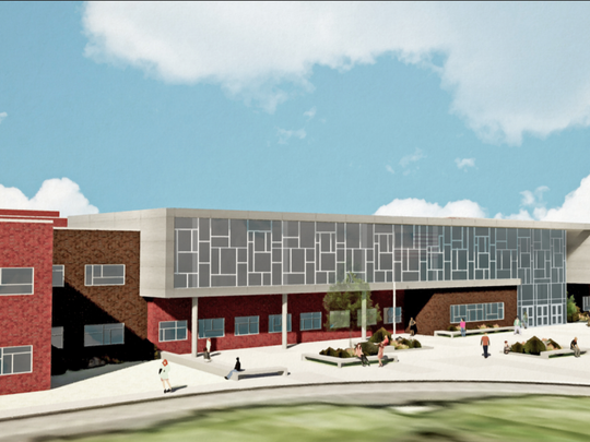 The 290,000 square-foot Dover Area High School will be constructed on the grounds of the current Dover Intermediate School. Dover's board approved the project on Tuesday, Feb. 20, 2018.