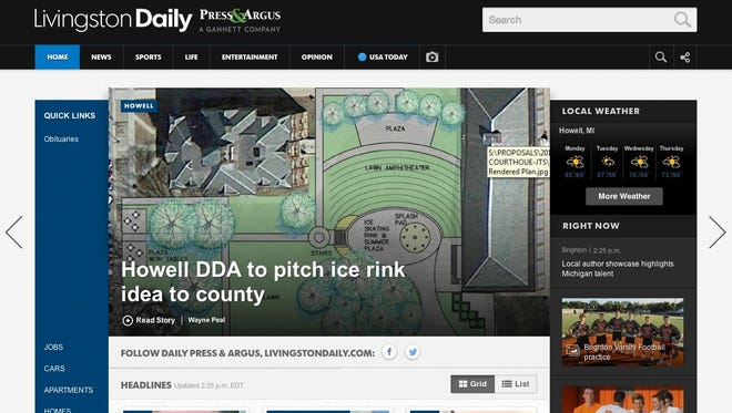 The new LivingstonDaily.com launched Aug. 25, 2014.