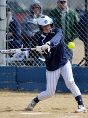 McKenzie Staats offers at a pitch during her time with Great Falls High.