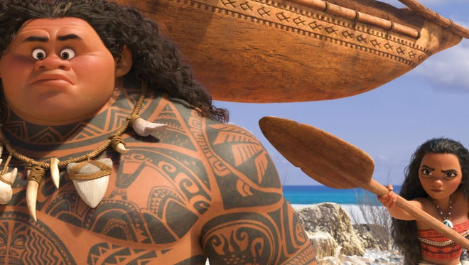 Demigod Maui (the voice of Dwayne Johnson) is no match for Moana (voice of Auli'i Cravalho), who's determined to sail out on a daring mission to save her people.