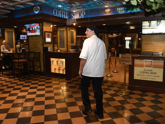 Ivano Centemeri, executive chef of the Eldorado, makes his rounds of the property. He walks a couple of miles a day.