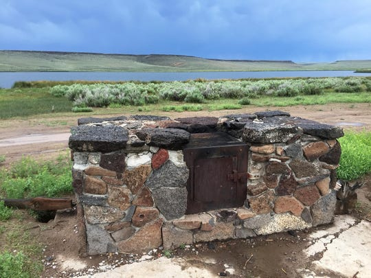 This oven and grill at Catnip Reservoir on the Sheldon National Wildlife Refuge, shown on June 10, 2015, would be suitable for grilling steaks. But bring your own firewood because there's none to be found nearby.