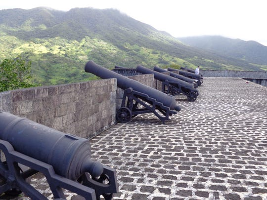 Brimstone Hill Fortress in St. Kitt's. The fort was captured by the French in 1782.