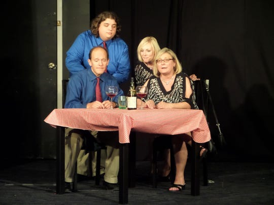 """Rosedale One-Act """"Thought Bubbles"""": from left, back"""