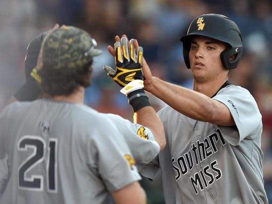 Southern Miss OF/RHP Matt Wallner suffered a non-structural forearm injury Sunday during an intrasquad scrimmage.