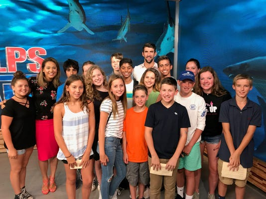 Pequannock swimmers meet Michael Phelps