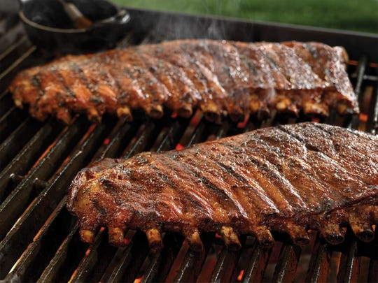 Spareribs (from the belly of the hog) are used to make these sweet spicy smoky ribs.
