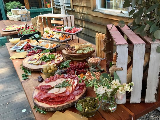A spread awaits party goers at the cozy Revive Coffee & Wine Bar just a short walk from Lake Tahoe.