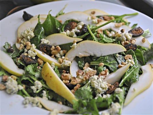 One good recipe: Fig, Pear and Walnut Salad