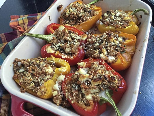 Kasha-stuffed Italian Peppers
