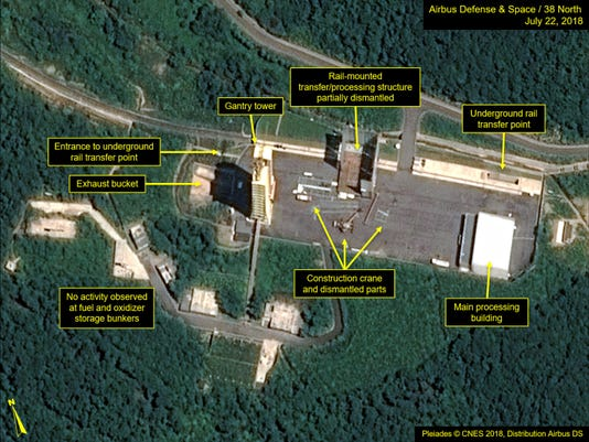 North Korea Dismantling Rocket Facility