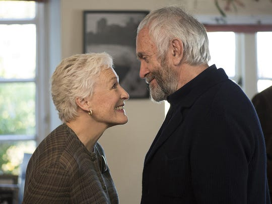 "Glenn Close and Jonathan Pryce in ""The Wife."""