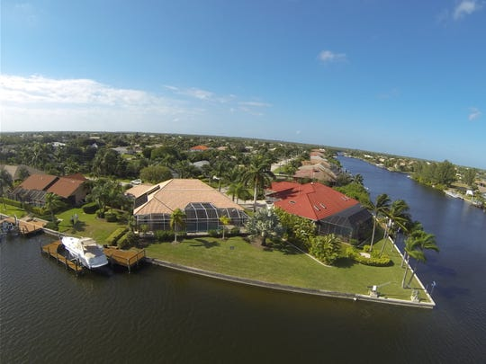 This waterfront home at 5201 SW 25th Place in the Cape recently sold for $615,000.