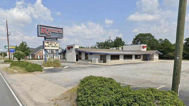 The former Ryan's buffet restaurant at 3034 Peach Orchard Road will be occupied next year by an SRP Federal Credit Union branch office according to construction plans.