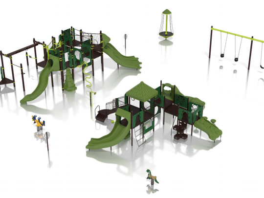 Roosevelt Park in West Allis will get an extensive set of play equipment, including slides.