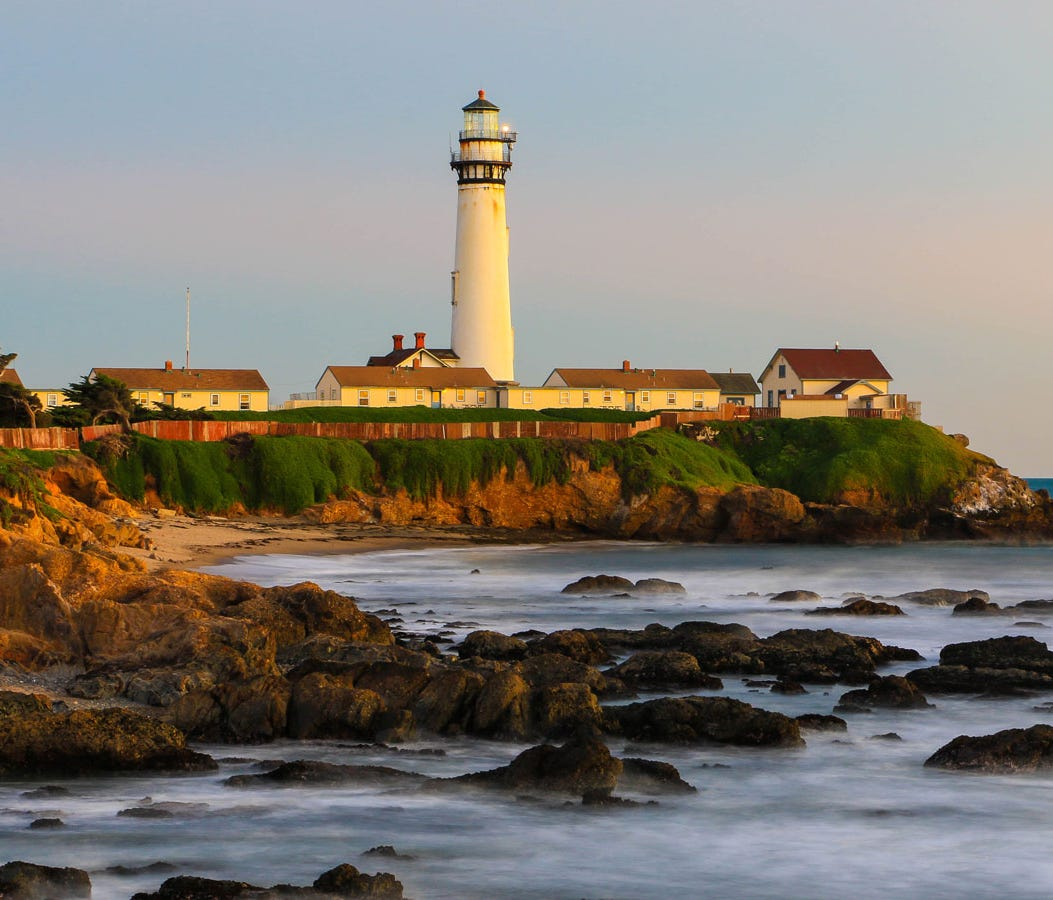 Pigeon Point Lighthouse: At 115 feet tall, Pigeon Point Lighthouse, now a part of Pigeon Point Light Station State Historic Park in California, is one of the tallest lighthouses in the United States. Although the tower has been closed since 2001, its