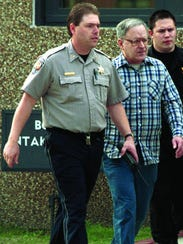 Defrocked priest Gilbert Gauthe leaves jail in 2000.
