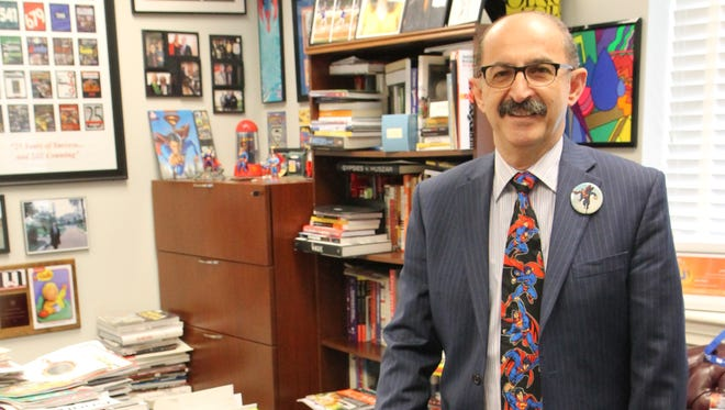 Samir Husni, aka Mr. MagazineTM, in his office at the University of Mississippi.