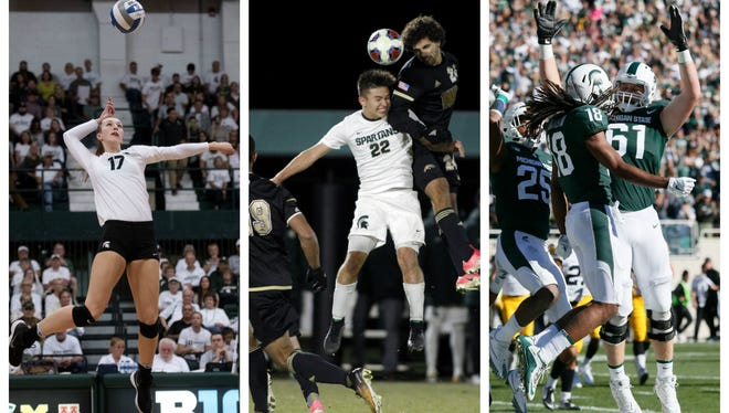 Michigan State's football, men's soccer, volleyball, hockey and men's and women's basketball teams have a combined record this year of 57-22-4.
