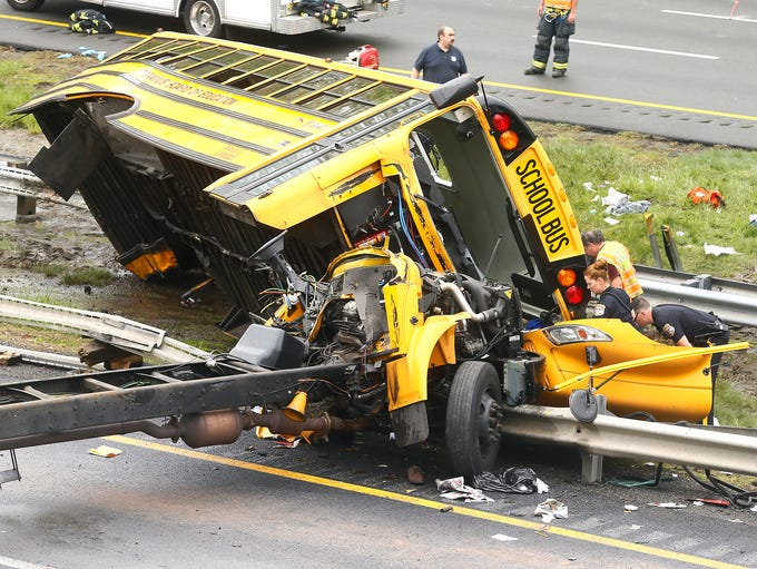 A serious accident involving a Paramus bus shut down