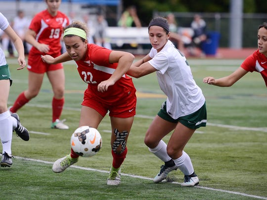 Lucie Gehringer (22) is among several returning starters for Westwood, last year's NJSIAA Group 2 girls soccer runner-up.