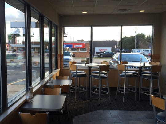 The remodeled Culver's on West Mason Street includes a mixture of booths and high-top and standard tables.