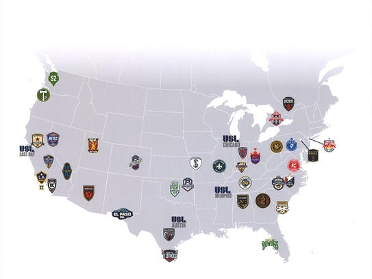 Here is a look at the USL soccer teams across the country, including El Paso's new team.