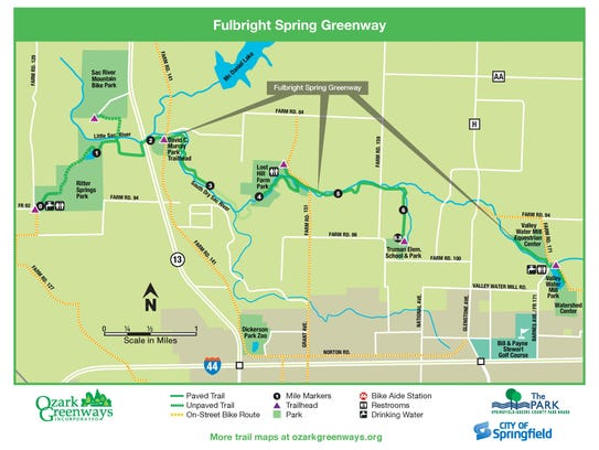 The new trail section dedicated Wednesday is between