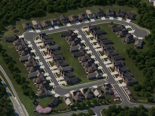 """A mock up of the Reynolds Landing """"smart neighborhood"""""""