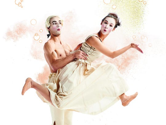 Cincinnati Ballet dancers Bella Ureta and Marcus Romeo