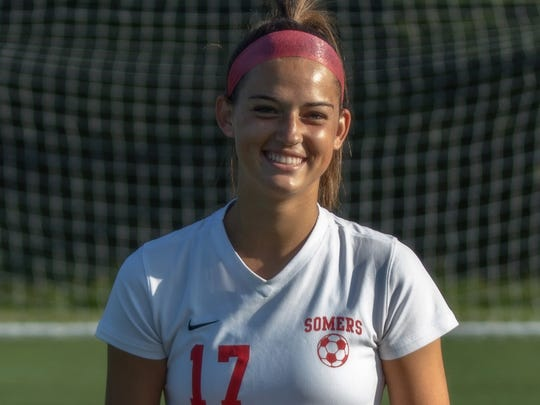 Claire Mensi is a standout midfielder and defender at Somers who committed to play at Bucknell.