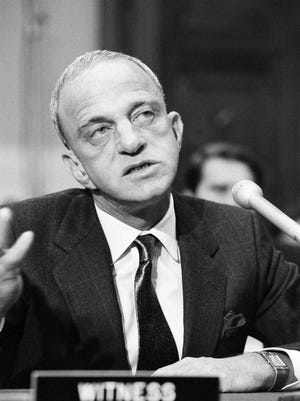 New York attorney Roy Cohn, appearing as a witness before a House Judiciary subcommittee in Washington in 1982.