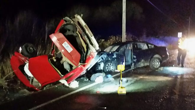 A two-car crash killed two people Thursday, Dec. 10, 2015, on Highway 99W at milepost 52.