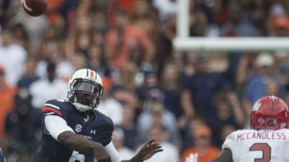 Jeremy Johnson threw the game-tying touchdown with 39 seconds left in regulation in Auburn's 27-20 overtime win over FCS school Jacksonville State.