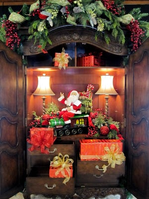 A Christmas display by Nick Williams for John Kirk Furniture Galleries in Carmel.
