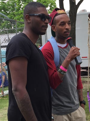 Damarii Saunderson (left) and Dantiez Saunderson will play Movement 2015 on Monday.