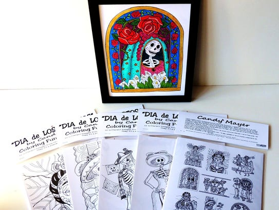 Candy Mayer's coloring pages are based on her Día de