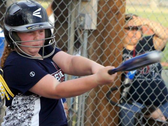 On  the Minor Division (9-11) softball diamond, Deming