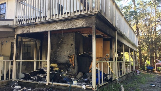 BCFR units responded to a Friday Road home in Cocoa after the porch caught fire on Monday.
