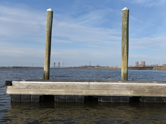 The Hackensack River seen from Laurel Hill Park in