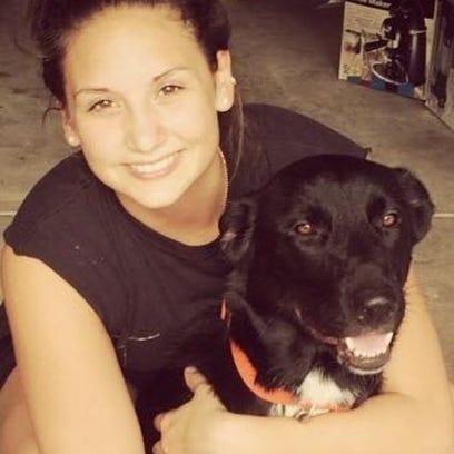 Chloe Arenas and her dog, Kyro.
