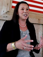 U.S. Representative Martha Roby pauses to talk with