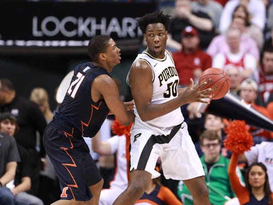 Will he stay or will he go? Caleb Swanigan will test NBA draft waters.